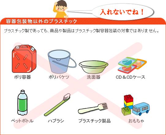 容器包装物以外のプラスチック